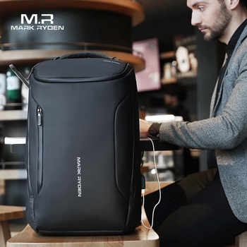 Mark Ryden 2019 New Anti-thief Fashion Men Backpack Multifunctional Waterproof 15.6inch Laptop Bag Man USB Charging Travel Bag face mask