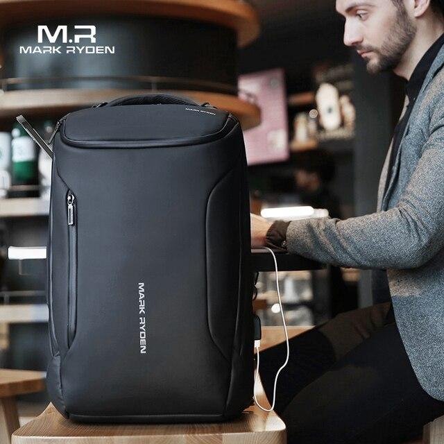 סימן Ryden 2019 חדש נגד גנב אופנה גברים תרמיל רב תכליתי עמיד למים 15.6 אינץ מחשב נייד תיק איש USB טעינת נסיעות תיק