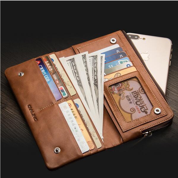 Portefeuille Flip étui pour iphone 7 6 6 S Plus en cuir véritable rétro Stand élégant sac pochette téléphone couverture pour iphone 7 6 6 S 4.7/5.5 inch