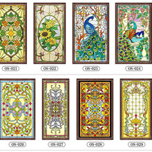 Custom electrostatic glass window film frosted stained church home foil stickers PVC self-adhesive films for furniture