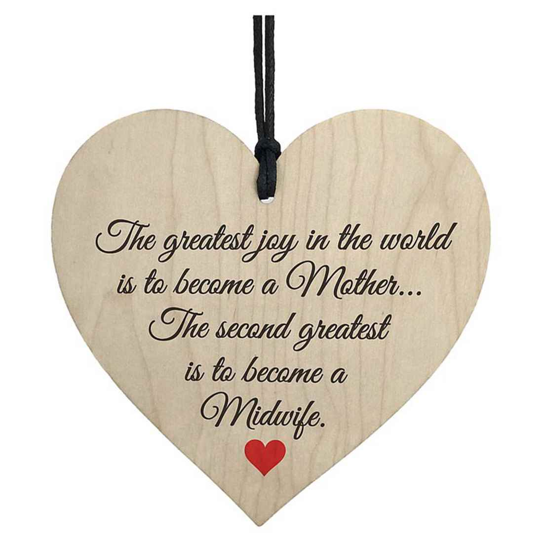 HOT SALE Greatest Joy Mother Midwife Wooden Hanging Heart Nurse Gift Student Plaque Sign