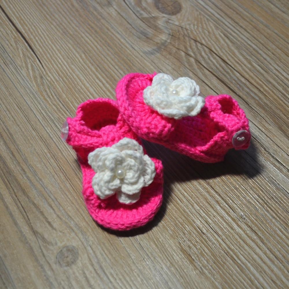 QYFLYXUE-Gehaakte babyschoenen, gehaakte baby slofjes, Baby ballerina - Baby schoentjes - Foto 2