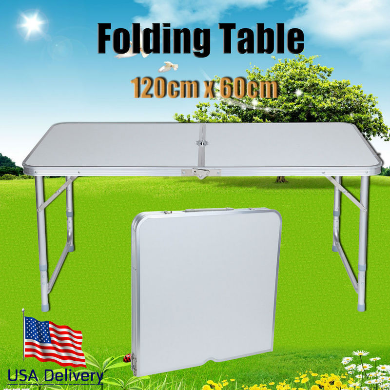Eu Shipping Adjustable Folding Table Camping Banquet
