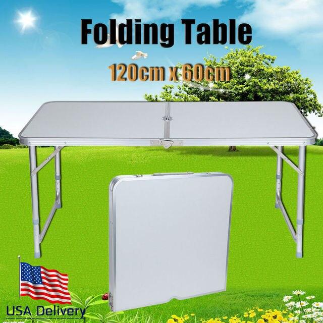 UE libre! Mesa plegable ajustable camping banquete partido picnic al ...