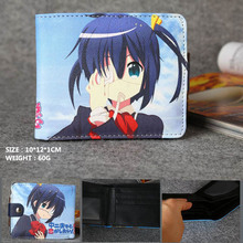 Anime Chuunibyou Demo Koi Ga Shitai! Ren High Quality Synthetic Leather Short Exquisite Wallet/Takanashi Rikka Button Purse