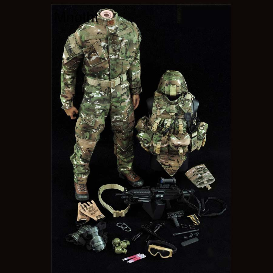 Mnotht 1/6 Military suit US second Infantry Division Model Clothes Suit For 12in Action Figure Toys l Collection Solider Toys