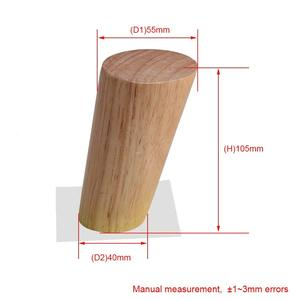 Image 4 - 10cm Height Wooden Oblique Tapered Reliable Wood Furniture Cabinets Legs Sofa Feet with Plate Set of 4