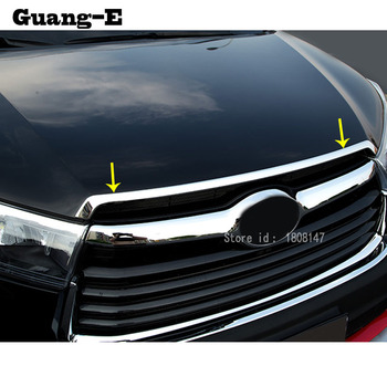 Car Sticker Styling Cover Bumper Engine Trim Racing Front Grid Grill Grille Frame Edge For Toyota Highlander 2015 2016 2017