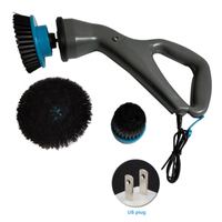 Multifunctional Household Rechargeable Electrical Lightweight Hurricane Muscle Scrubber Powerful Cleaning Tools Cleaning Brush