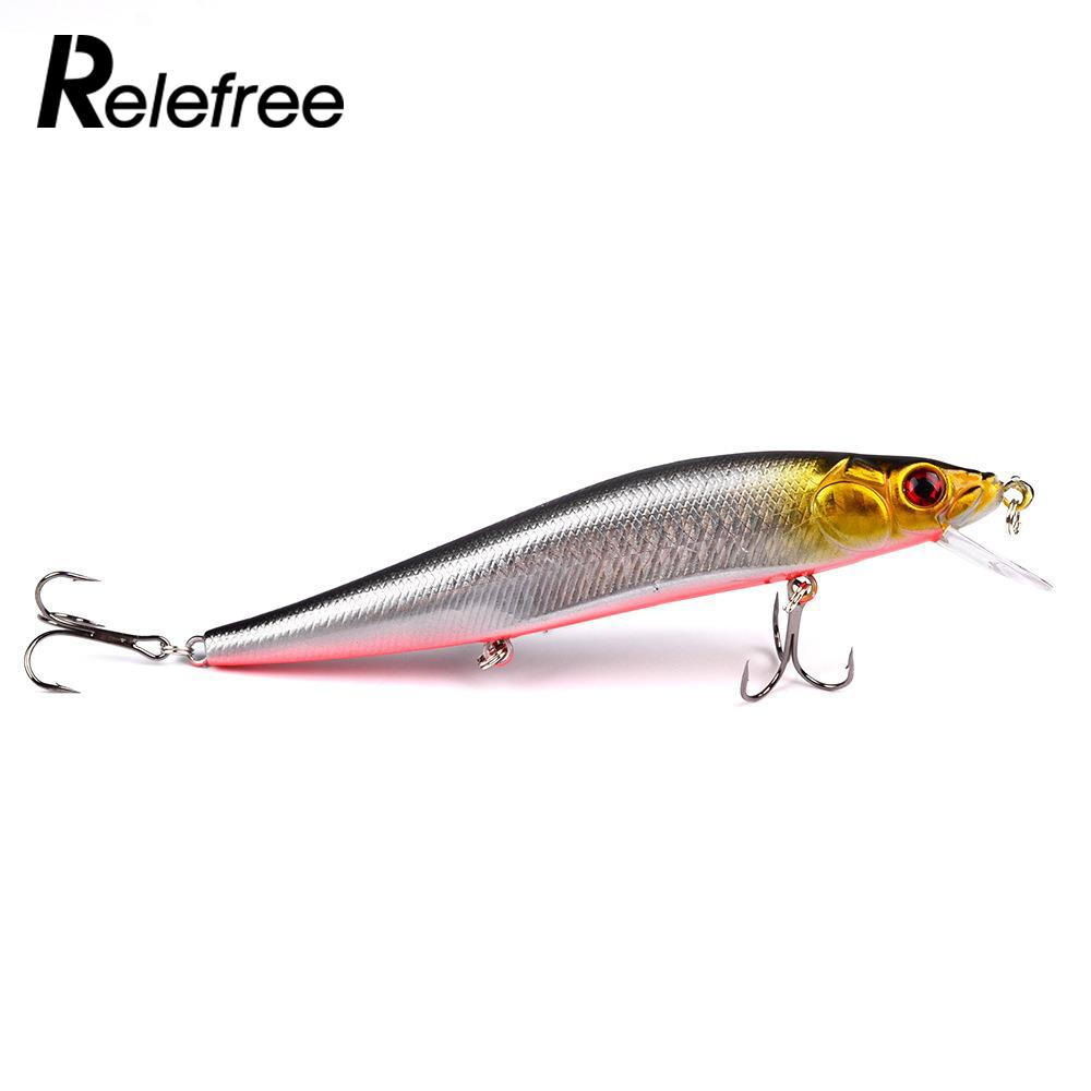 4#Hooks Minnow Outdoor Fishing Trolling Lures Bass Crankbait Tackle Crank Baits
