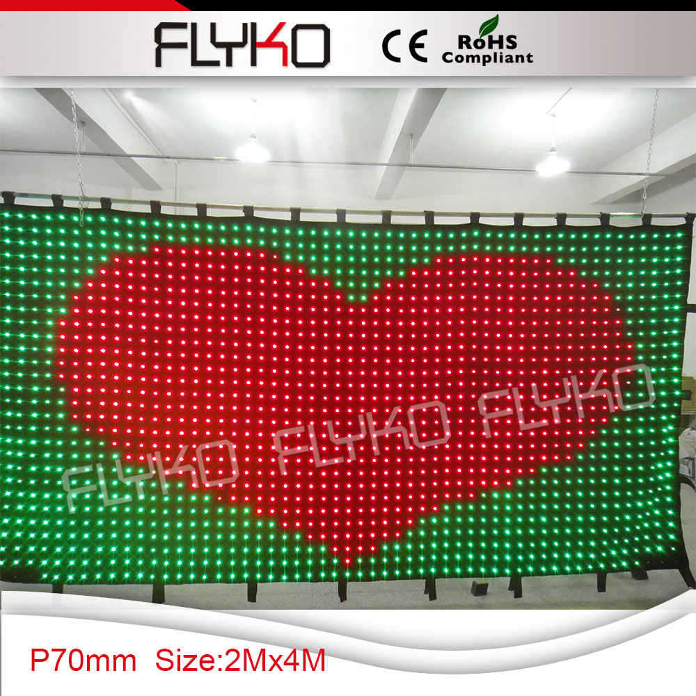 led light stage backdrop cloth flexible led video curtain P7 2x4m