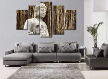 2017 NEW framed 5 Panels Canvas Print Painting Wall Art for Picture Home Decor Artwork The Buddha series WY-6