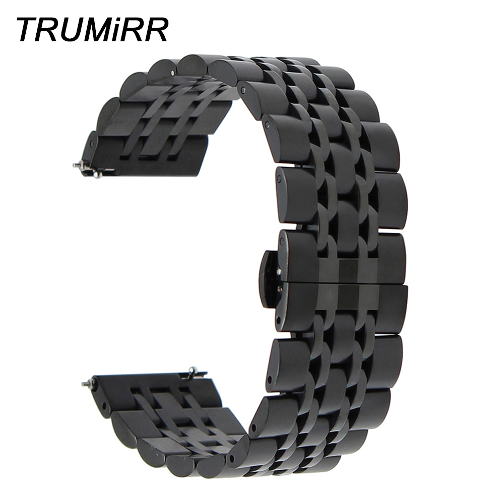 Quick Release Stainless Steel Watchband 18mm 20mm 22mm for Casio Men Women Watch Strap Butterfly Buckle Band Wrist Belt Bracelet ceramic watch band 18mm 20mm 22mm for cartier butterfly buckle strap wrist belt bracelet black white silver spring bar tool