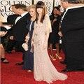 Cristais de luxo Sereia Vestidos de Celebridades Mangas Meia Frisado Sparkly vestido de Um Ombro Red Carpet Vestidos Prêmios Mulheres Avondjurk