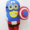 3D Despicable Me Adult Character Mascot Costume Minion Captain America Cartoon For Cosplay Party