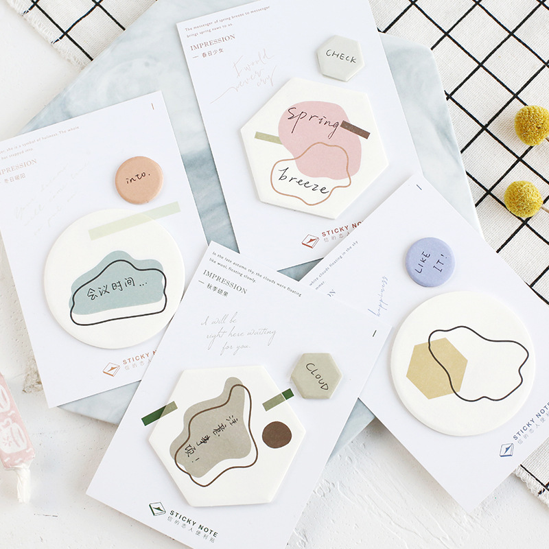 4 pcs Impression four season sticky notes Color post memo pad Diary planner marker it stickers Office School supplies A6177