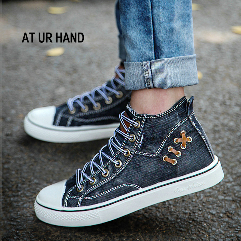 men 's shoes solid color denim casual shoes men's footwear spring summer canvas lace-up leisure shoes men s casual color printing zip fly straight legs denim pants
