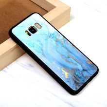 Tempered Glass Case For Samsung Galaxy Note 8 Cover Marble Pattern Protector Etui Fundas Housing