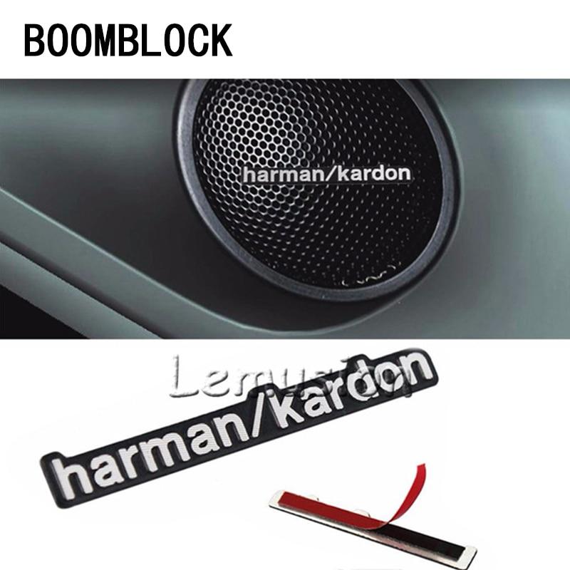 BOOMBLOCK Car Stickers Audio Video Speaker For Harman Kardon For Opel Astra H G J Volvo S60 V70 XC90 Citroen C5 C4 C3 Subaru
