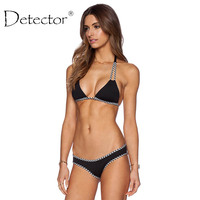 Detector Sexy Micro Bikinis Women Swimsuit Female Swimwear Halter Brazilian Bikini Set Beach Bathing Suits Swim