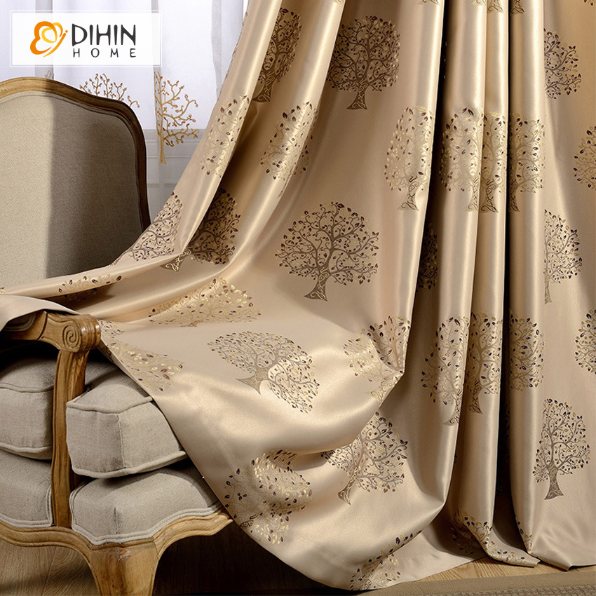 DIHIN Home High Quality Pastoral Blackout Curtains Embroidered Curtain For Living Window Screening Curtain Drapes