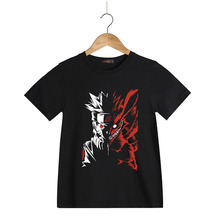 Naruto Anime Printed Kid's T-Shirt Uzumaki Naruto T Shirt for Children Boys Summer Cotton Short Sleeve Casual Tops Tees