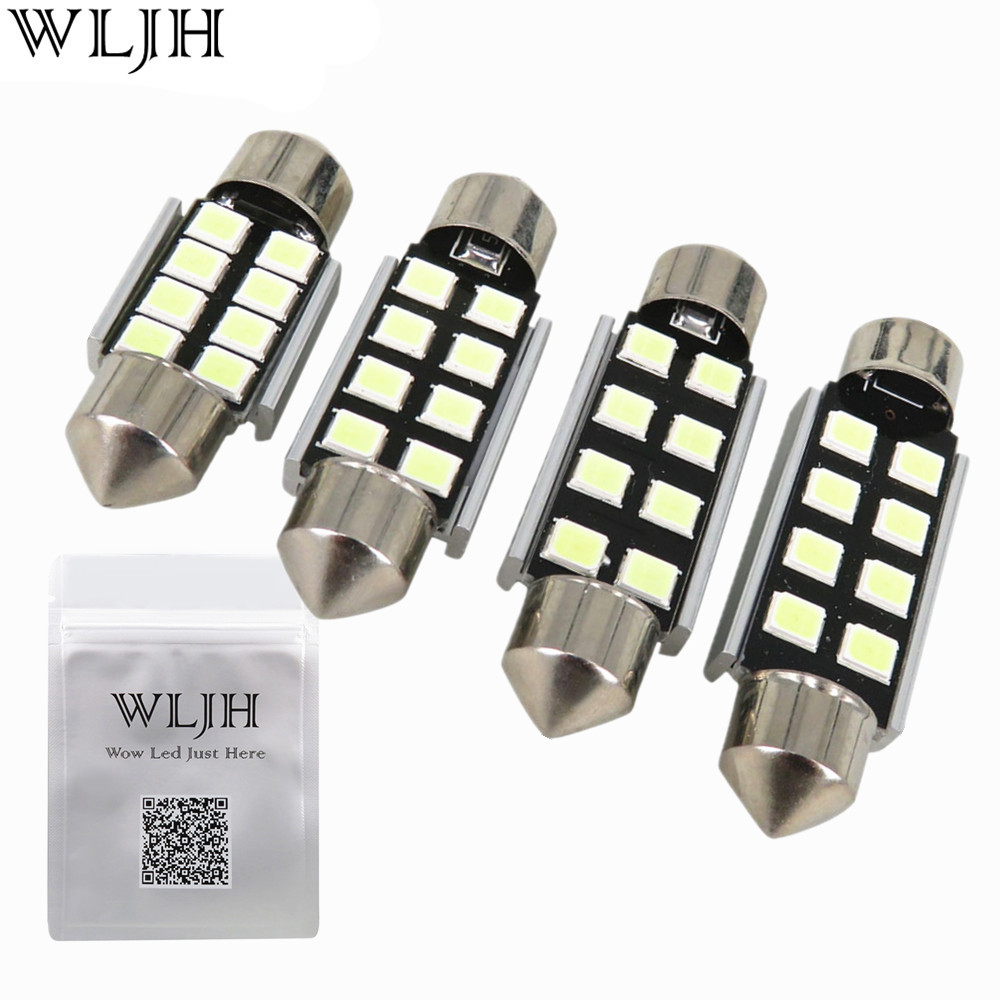 WLJH 1x Canbus 36mm 39mm 41mm 31mm For Samsung LED Chip 2835 6418 C5W External Interior Lights 12v Car Light Source Parking chip for samsung proxpress slc 462 w c 462 w 4063s c460fw 3304 els xaa xil see brand new digital copier chip fuse