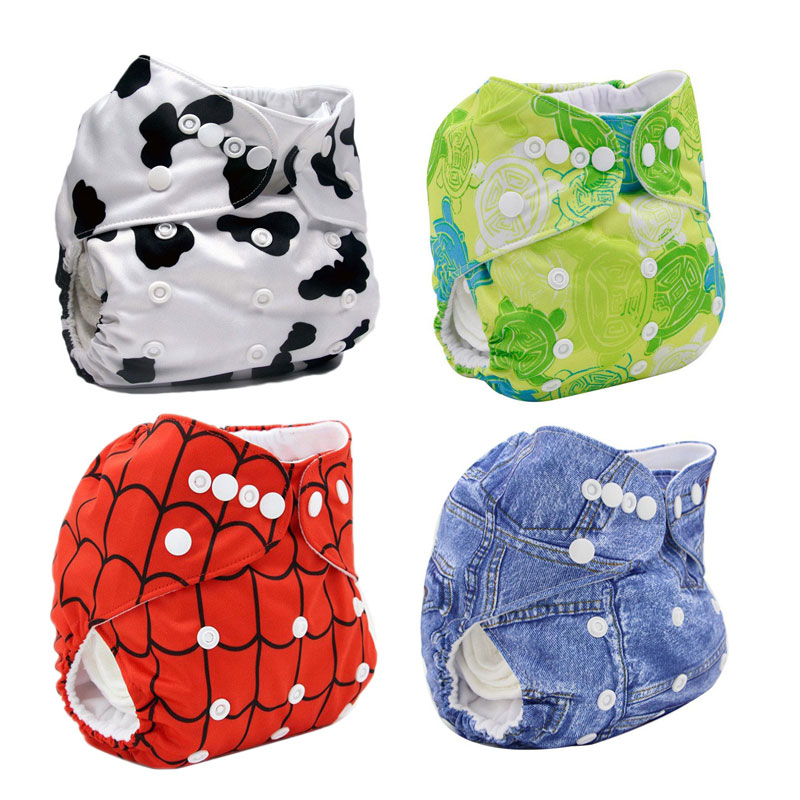 Reusable Baby Cloth Diaper Washable Dipaering For Newborn Print Baby Nappy One Size Adjustable Available Infant Toilet Training
