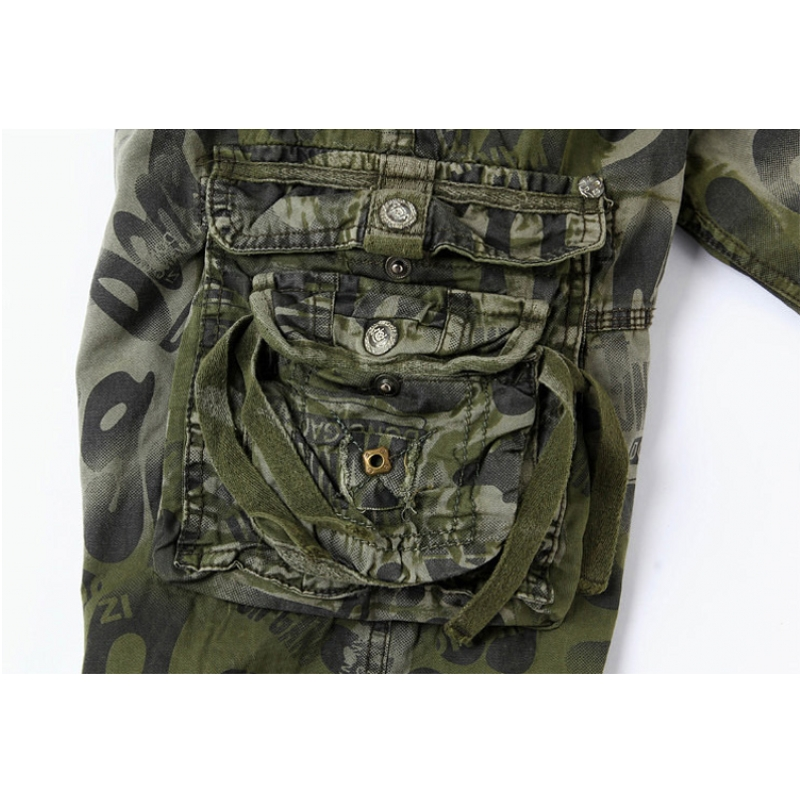 AmberHeard 2019 Mode Männer Shorts Masculino Camouflage Homme Cargo - Herrenbekleidung - Foto 5