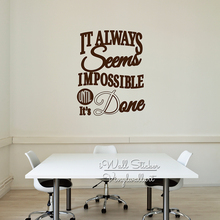 Office Quote Wall Sticker Motivational Decal Removable Inspirational Quotes Cut Vinyl Stickers Q199