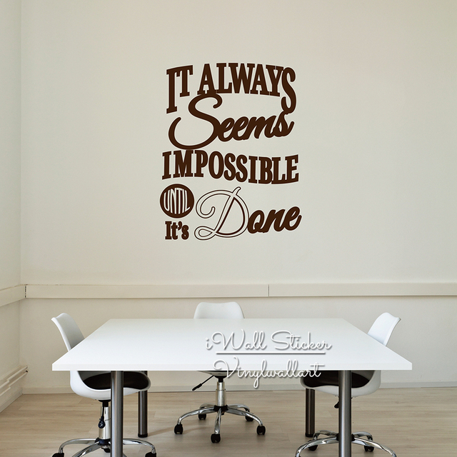 Great Office Quote Wall Sticker Motivational Quote Wall Decal Removable Inspirational  Wall Quotes Cut Vinyl Stickers Q199