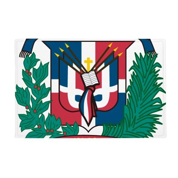 Dominican Republic National Emblem Country Anti-slip Floor Mat Carpet Bathroom Living Room Kitchen Door 16x30Gift