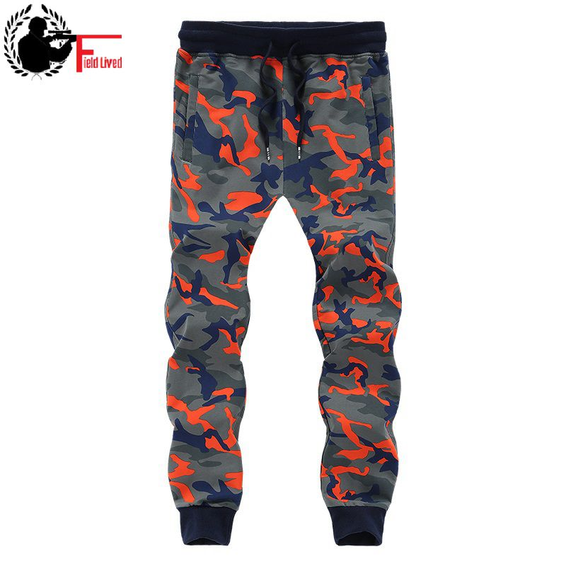 Men Sweat Pants Baggy Camouflage Sweatpants Jogger Winter Warm Fleece Camo Trouser Elastic Waist Male Plus Size 8XL Big Tall 7XL