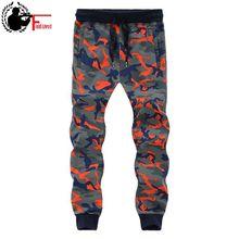 Men Sweat Pants Baggy Camouflage Sweatpants Jogger Winter Wa