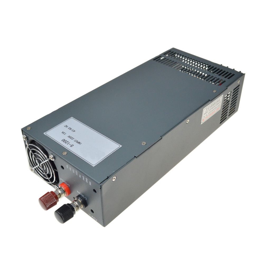 LED Driver Input 110VAC to DC 1200W 48V(0-52V) 25A adjustable output Switching power supply Transformer for LED Strip light dc power supply 36v 9 7a 350w led driver transformer 110v 240v ac to dc36v power adapter for strip lamp cnc cctv