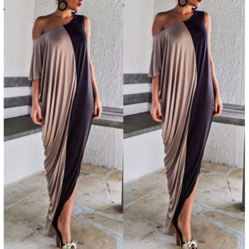 6d742c1557ef Women Summer Evening Party Beach Patchwork Long Maxi Dress-in Dresses from Women s  Clothing on Aliexpress.com