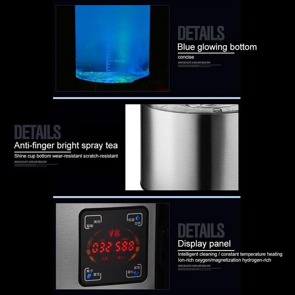 Бутылка для воды щелочной воды 2л богатый водород ионизатор фильтр для воды напиток водородный водонагреватель очиститель 110 В/220 В - 5