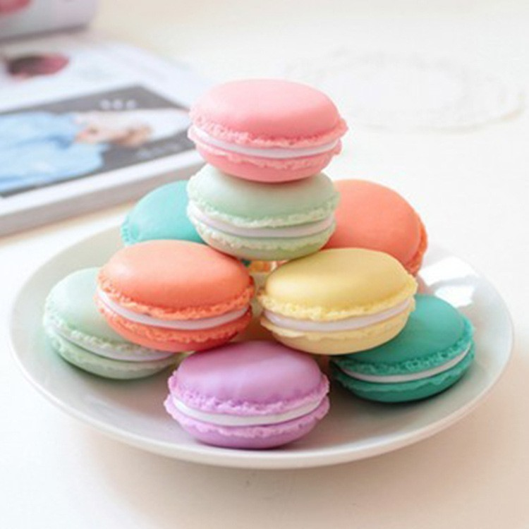 4 Pcs/lot kawaii Mini Clip Holder Ornament Trumpet Macaroon Round Jewellery Case Carrying Pouch Super Storage Box