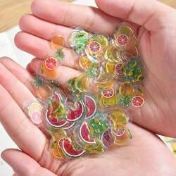 100 шт./упак. прозрачный мини-3D из чистого ПВХ наклейки в виде конфет Творческий животных Дельфин фрукты кошка декоративные Стикеры для