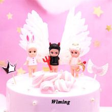 little angel cupcake toppers cake decorating children kids baby toys novelty gifts decor birthday party decor angel cake topper free shipping baby twins angel pearls figures resin toy vivid lifelike cute cake home office car decor baby shower party gifts