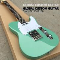 2017 China gitaar Fabriek directe verkoop, Hoge kwaliteit, Eend eieren, groene kleur TL elektrische gitaar, Real foto, gratis verzending