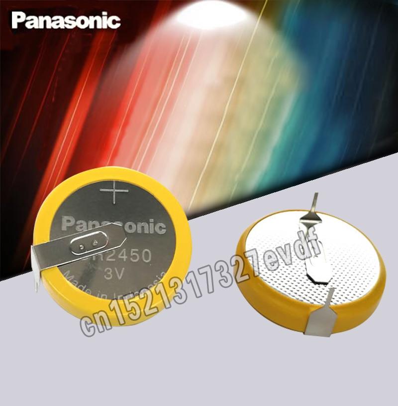 Оригинальная литиевая батарея Panasonic CR2450 2 шт./лот с контактами 3 в монет батарейка 2450