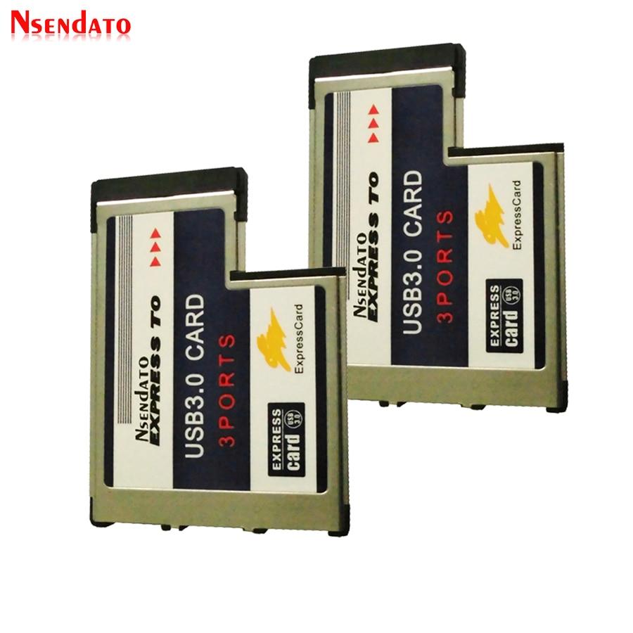PCI Express Card, expresscard 34 мм 54 мм Скрытая USB 3,0 адаптер 5 Гбит/с USB3.0 3 Порты и разъёмы Express Card 54 PCMCIA HUB конвертер для ПК