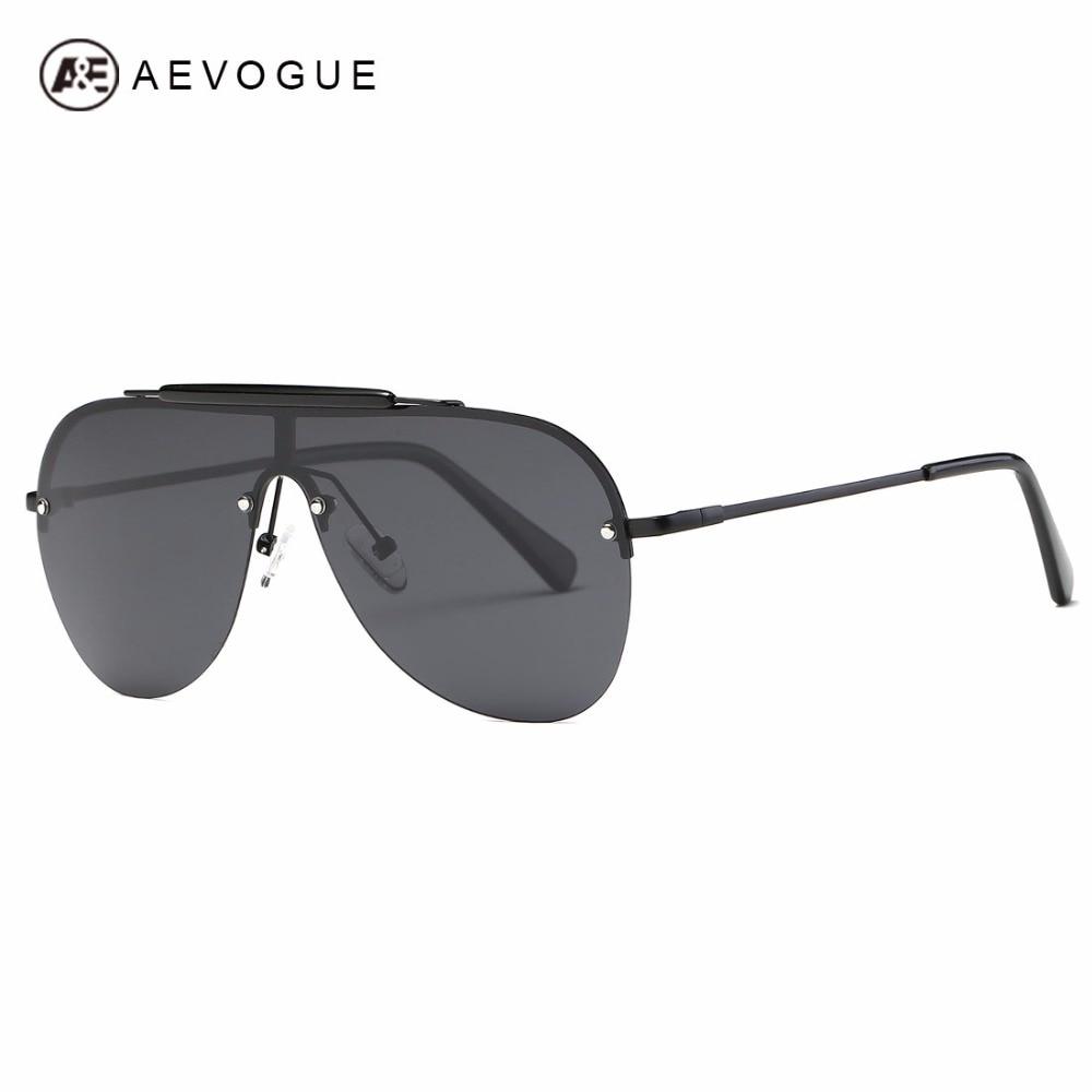 AEVOGUE Polarized Sunglasses Men Alloy Frame Brand Designer Steampunk Unisex Sun Glasses UV400 AE0557