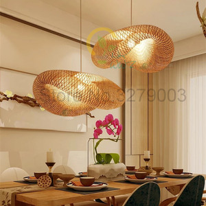 Image 3 - Southeast Asian Handmade Bamboo Weaving Rattan Art Pendant Lights Personality Restaurant Hotel Coffee Hanging Lamps Fixture
