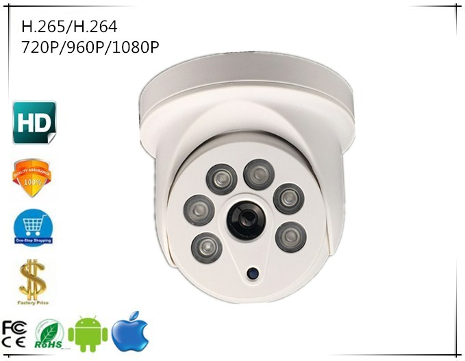 Surveillance Cameras Ip Hd Dome Camera 720p/960p/1080p 2.0mp Network H.264/h.265 Infrared 6 Array Leds Irc Nightvision Audio 48v Poe Onvif Cms Xmeye To Have A Unique National Style