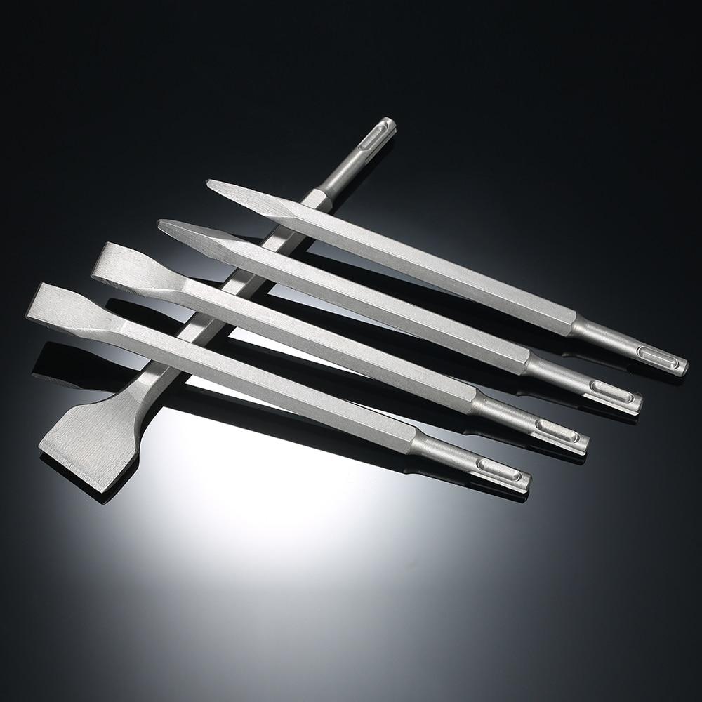 5PCS SDS Plus Hammer Drill Bits wood Chisel Set Gouge Round Shank Chisels 250mm wood carving tools power tools бур sds plus hammer 6х210мм