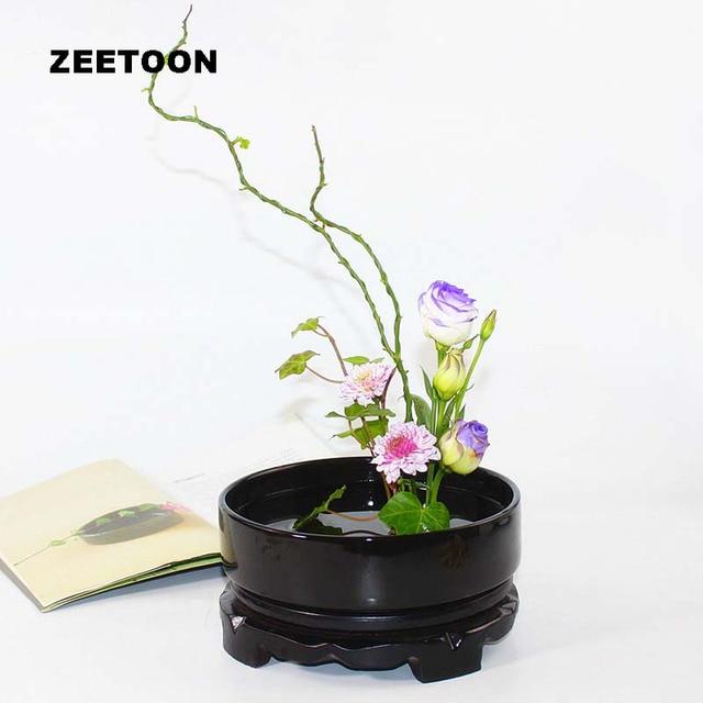 Post Modern Ikebana Flower Pot Tabletop Vase Bowl Flowerpot Hydroponic Plant Basin Arrangement Ceramic Containers