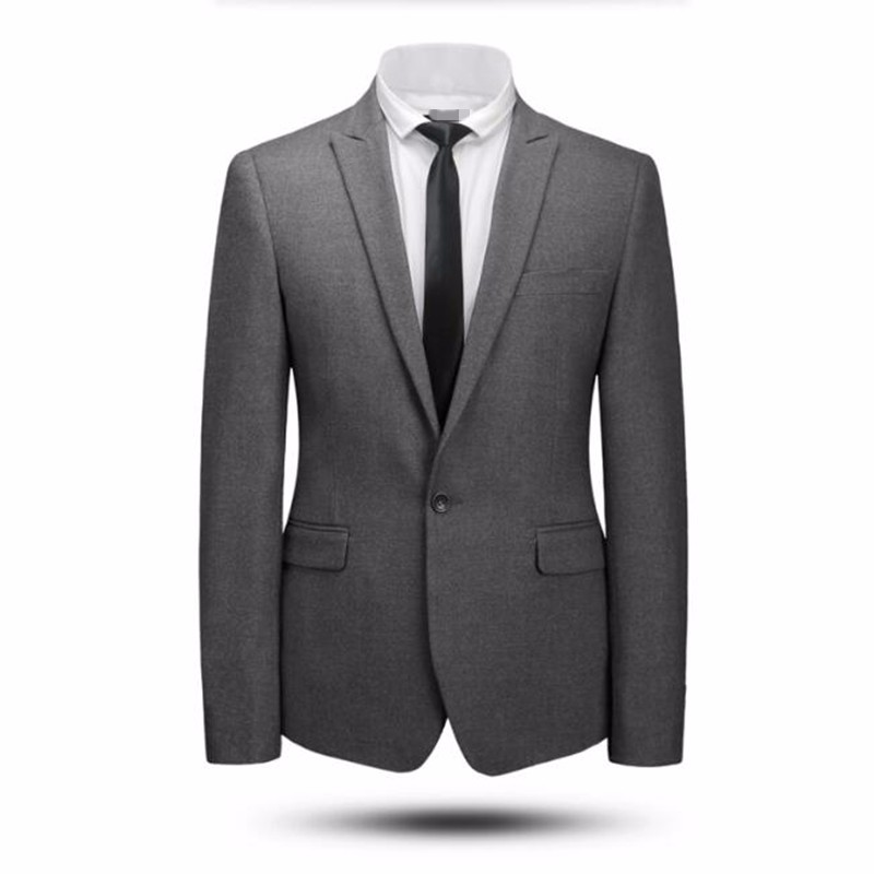 9.1Grey and black men suits jacket wool blended wedding tuxedos jacket tailor made formal business suits jacket