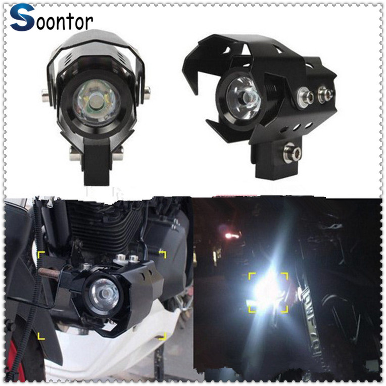 2PCS Motorcycle <font><b>Headlight</b></font> <font><b>LED</b></font> Fog Lamp Beam Head Light Spotlight for <font><b>YAMAHA</b></font> R6S EUROPE VERSION YZF <font><b>R1</b></font> R1M FAZER600 FZX700 image